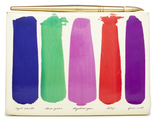 glamour:  An art-inspired clutch from the Kate Spade fall 2012 look book.