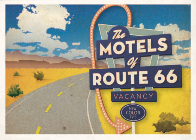laughingsquid:  The Motels of Route 66, A Documentary Film & Book Project