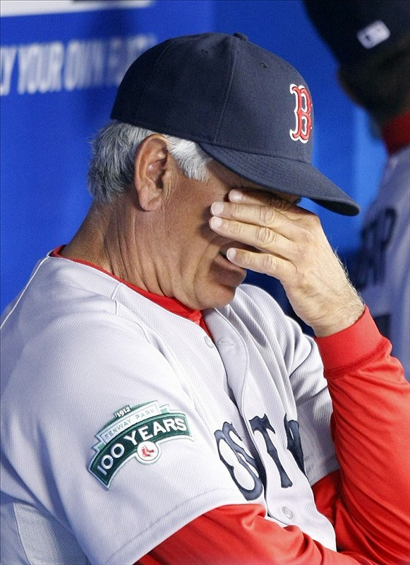 "Bobby Valentine on getting booed at Fenway Park again last night: ""I was booing myself."""