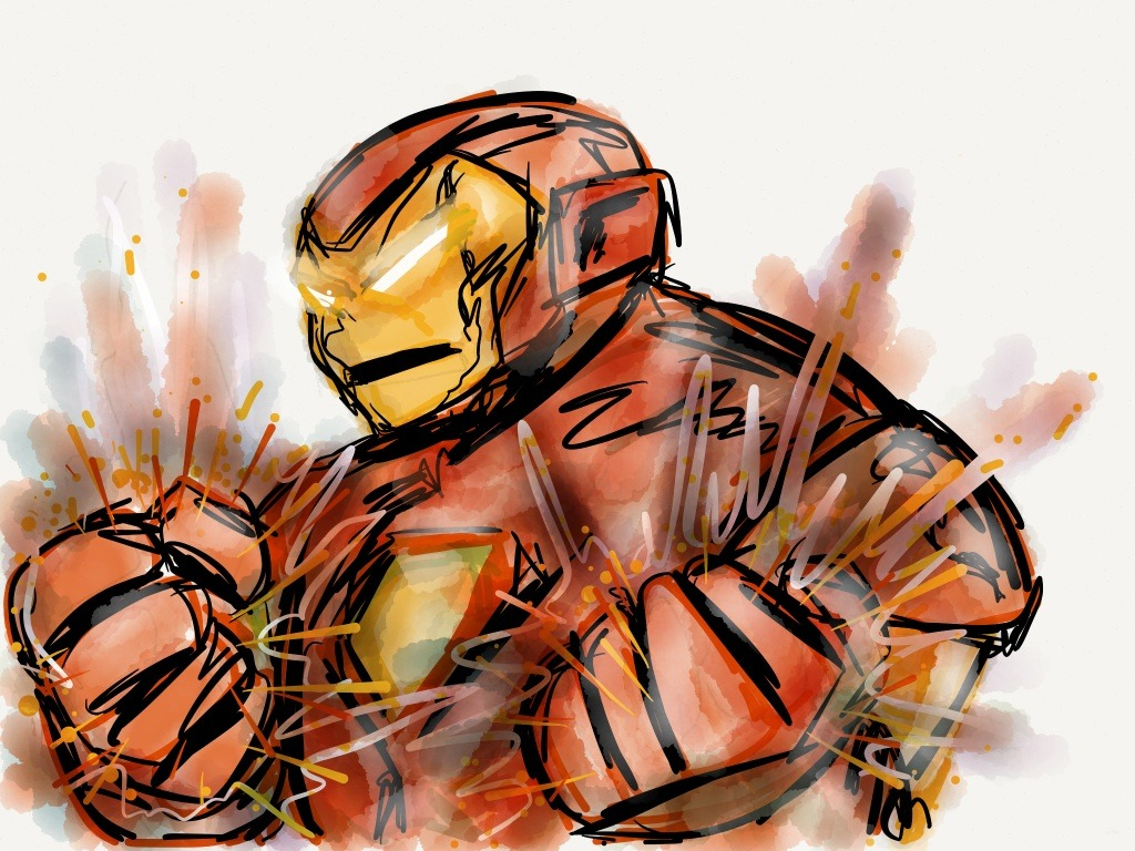 Iron Man *really* doesn't like it when his cookies are stolapen from the pantry. Made with Paper