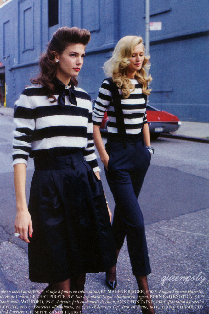 nuridroes:   Kendra Spears & Toni Garrn/Vogue Paris December 2011