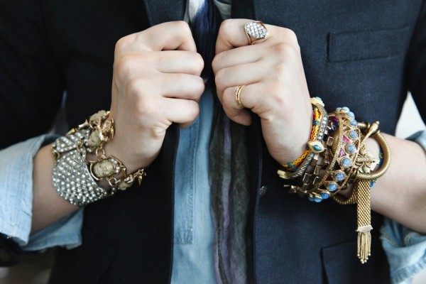 BAUBLE OF THE DAY Stacked to perfection. Lisa's wrists featured on Refinery 29 Arm Candy story this morning.