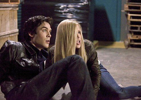 Damon Salvatore and Rebekah Mikaelson in 3x22, The Departed.