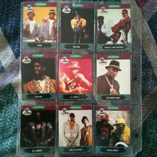 #throwback Yo! MTV Raps trading cards. Do y'all remember these back in the day?!!!!
