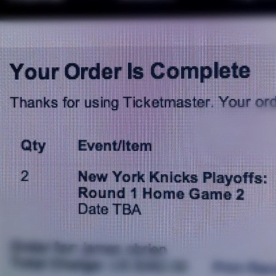 #fuckyes! #knicks #iwinyoulose #nbaplayoffs (Taken with instagram)