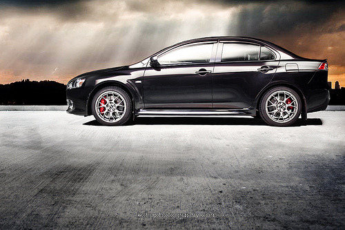 Proud stallion Starring: Mitsubishi Lancer Evo X (by www.kchuphotography.com)