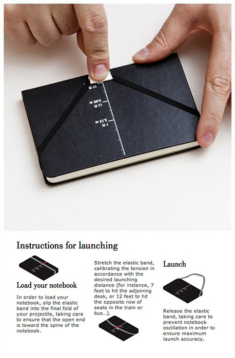 Moleskine SMS Shooting Message System  Haha so great.