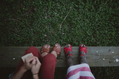 """andrew and carissa""""We sat in our little neighborhood park, after dinner, with cards… And, as the sun set, we pulled our sweaters on."""""""