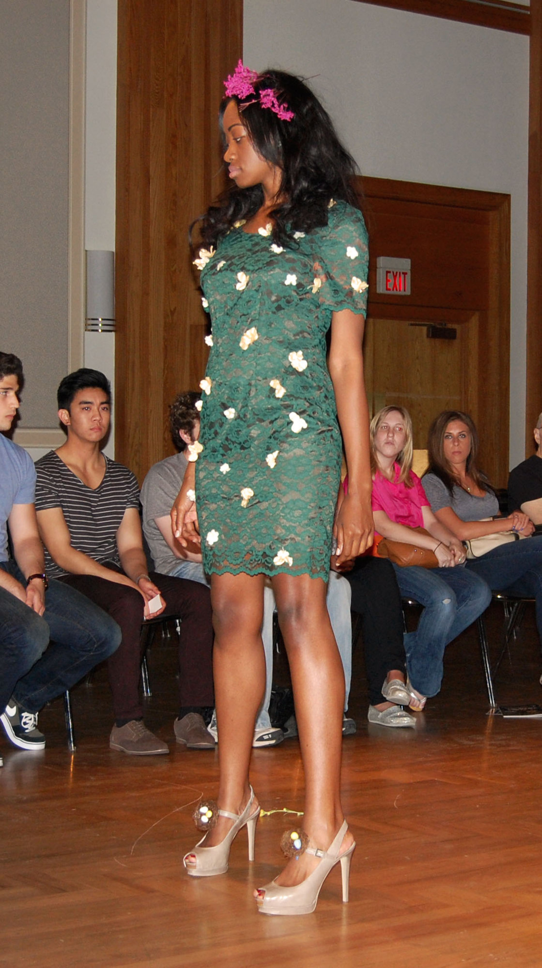 One of the looks from our first fashion show at the University of North Texas. This look features the Guinevere Dress that we recently sold on Etsy. Visit our shop to see more awesome vintage pieces! - Monica