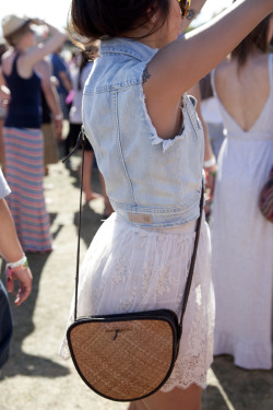topshop:  Denim and lace make for a great festival outfit.