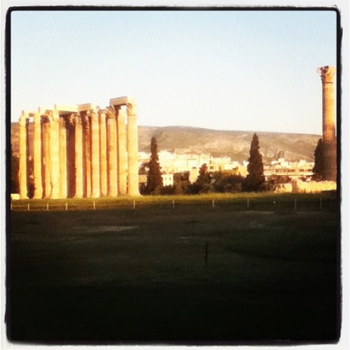 Spending my last sunset abroad at the Temple of Zeus. This time tomorrow, I'll be pounding out some essays back in England.