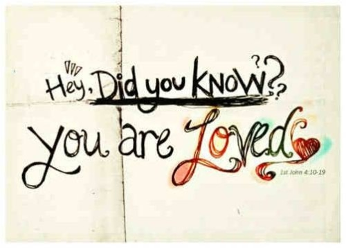 Hey, Did you know?? You are Loved <3