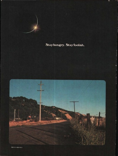 Final back cover of Whole Earth Catalog.