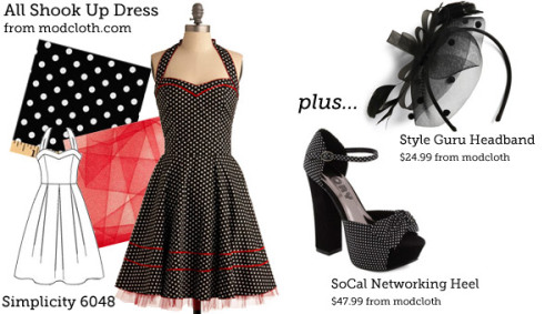 (via Make This Look: All Shook Up Dress | The Sew Weekly - Sewing & Vintage Lifestyle)