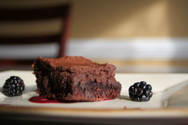 """'Three Layer Brownie."" Photo by Andrew S. Help Andrew win Womply's Favorite Eats Photo Contest by clicking the photo and hitting ""Like""! To learn more about the contest, click here."