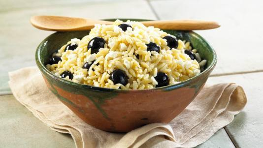 Orzo with Black Olives and Feta