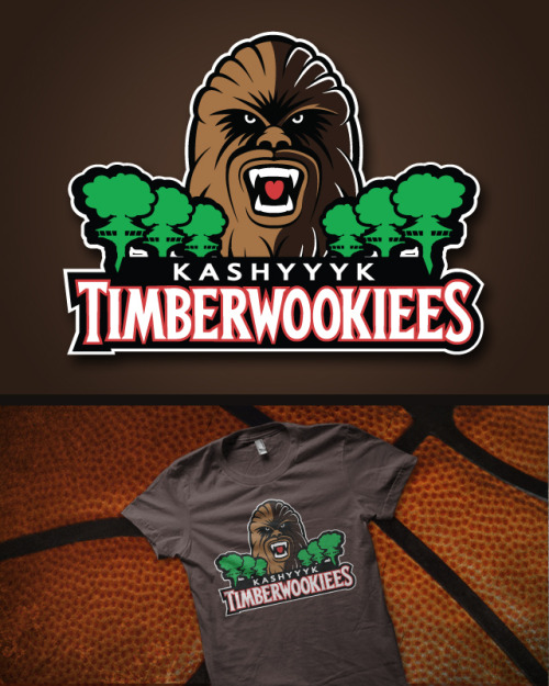 tiefighters:  Timberwookiees Created by Vitaliy Klimenko Vote for this shirt at Qwertee! Facebook || deviantART