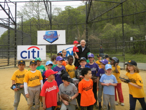 spodelski:  My favorite shot from the Citi/SNY Play Ball Grant Dedication ceremony featuring Mets-great Ed Kranepool
