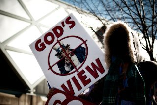 Another classy protest from the Westboro Baptist Church.