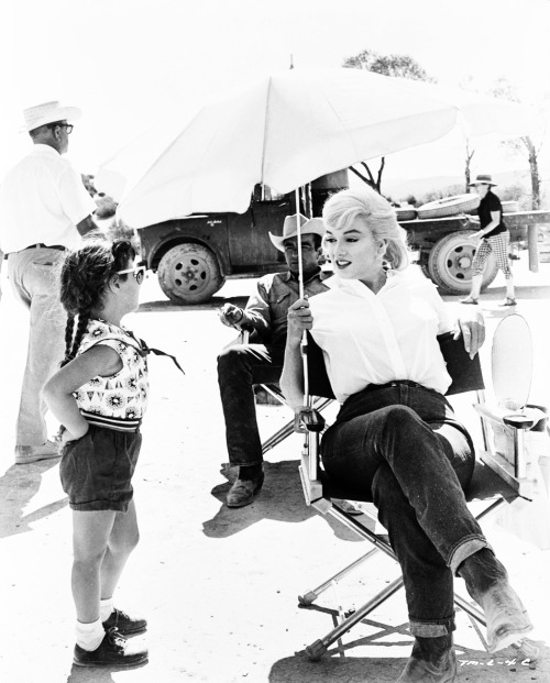 Marilyn Monroe on the set of The Misfits. Photo by Eve Arnold, 1961