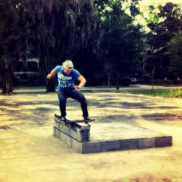 @brodhead boardslide/Savannah GA #skateboarding #skating #diy #savannah  (Taken with instagram)