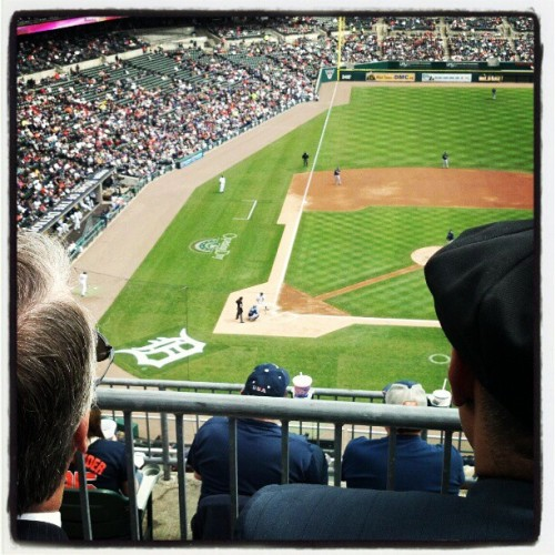 View from Pop's seats….looking forward to a baseball filled summer! #Detroit #Tigers #MLB (Taken with instagram)