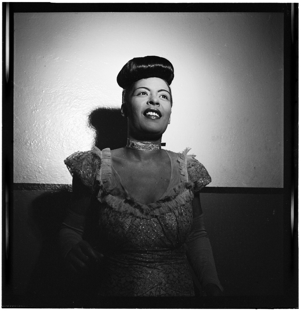 vintagegal:  Portrait of Billie Holiday, Carnegie Hall, New York, N.Y., between 1946 and 1948. Photo by William Gottlieb