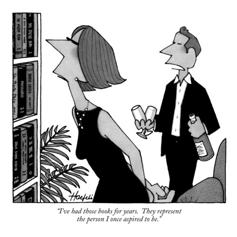 themattsmith:  This New Yorker cartoon cuts a bit close for my tastes.  Well, this is certainly me.