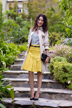 Print, Pleats, and a Springified Trench