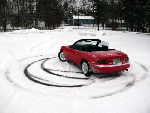 Miatas are great donut makers.
