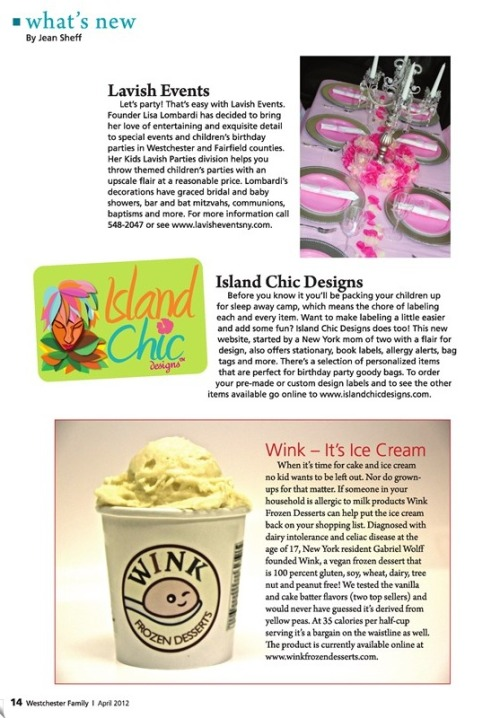 Check out this month's issue of Westchester Family Magazine. We're featured on page 14!