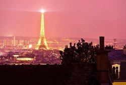 I believe that the Eiffel Tower is so iconic because it symbolizes a beacon of light among the smoke and darkness of the modern world.