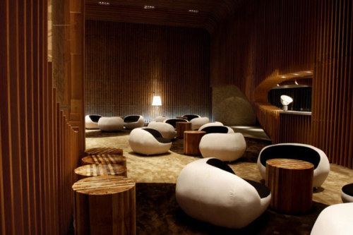 freshome:  Elegant Tianxi Oriental Club in China Paying Tribute to Wooden Interiors