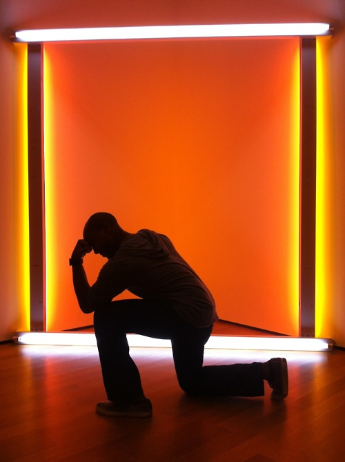Tebowing from Light Exhibit at the Museum of Modern Art!