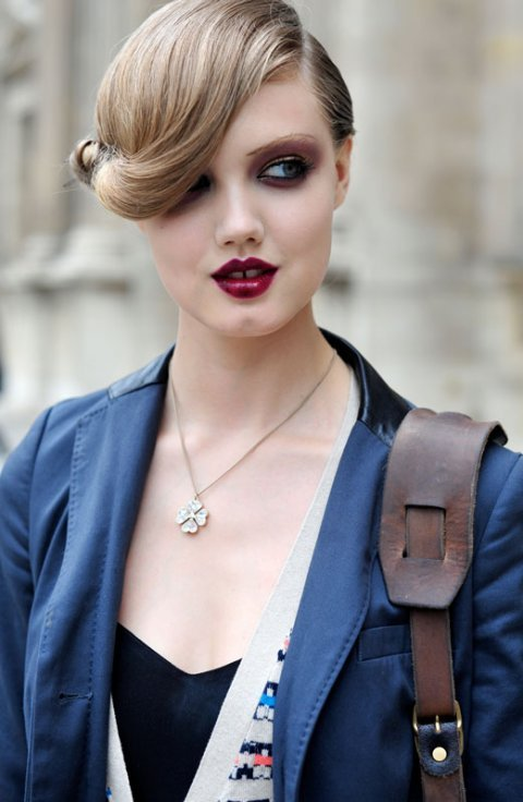 Model Lindsey Wixson post-Louis Vuitton SS11 runway show, photographed by Hanneli Mustaparta (via SARAH BRECK)