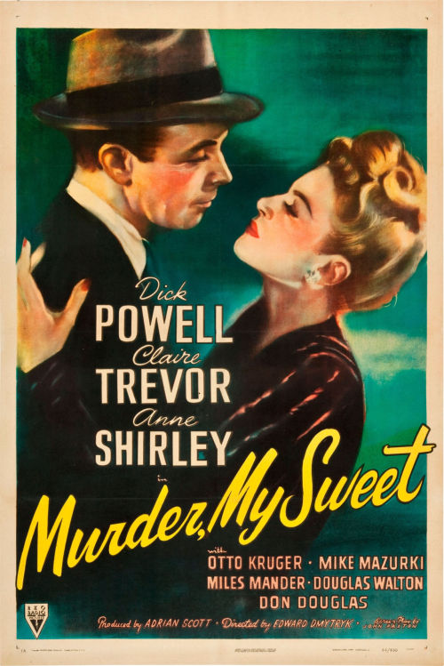 "2or3thingsiknowaboutfilm:  Murder, My Sweet (1944)Dir. Edward Dmytryk   ""A black pool opened up at my feet.  I dived in.  It had no bottom."""