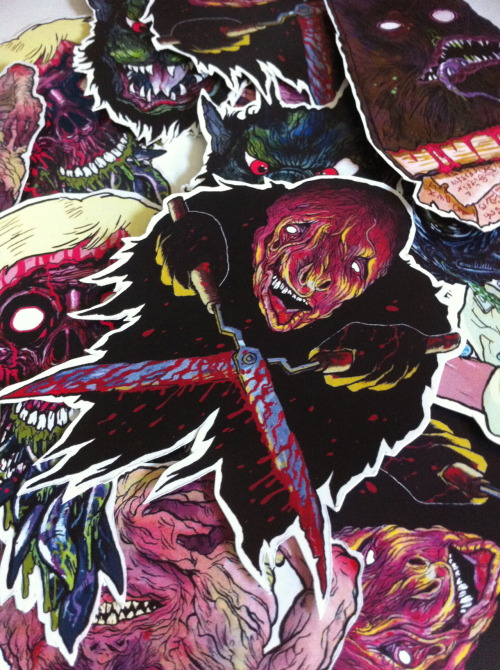 Amazing cult horror stickers from Trevor Henderson buy them here