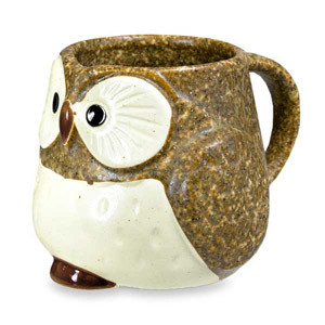 This charming mug is the perfect gift for the owl-lover in your life. Get one of each of the four colors for a fun and unique set. And you can't beat the price: only $14.95 each. Check out http://myowlbarnhandmade.blogspot.com for this great steal and other owl-related goodies today!