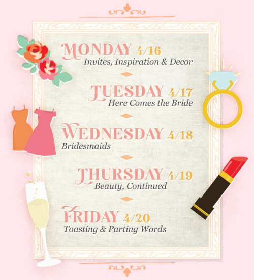 We've just wrapped up a week of Wedding celebrations over at the ModCloth Blog and thought you might enjoy a little wrap up of our week of momentous marry-ment! Stay tuned as we share some of our best wedding inspiration from invite ideas to cool cocktails!