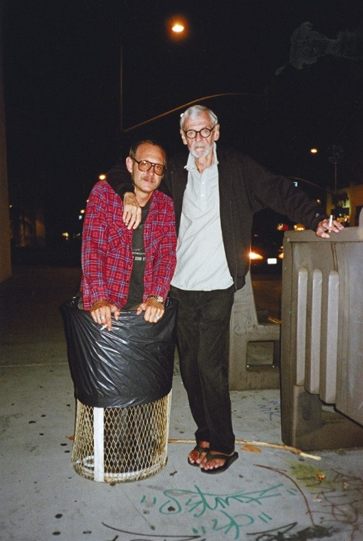 Terry Richardson with his father, fashion photographer Bob Richardson