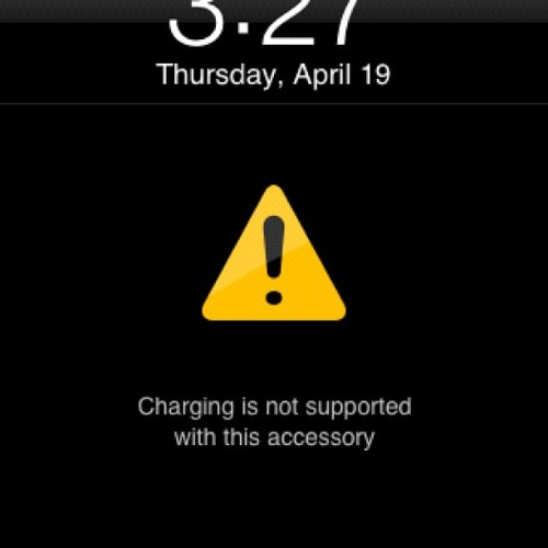 I get this message when charging my Apple iPhone into my Apple Desktop Computer (Taken with Instagram at The McGraw-Hill Companies)