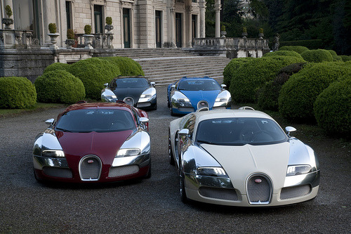 "Bugatti celebrates 100 years and pays Homage The Villa d'Este Concorso d'Eleganza has brought out some of the most luxurious beauties including the Aston Martin One-77. Not the one to be outdone, Bugatti has unveiled four Centenaire special-edition Veyrons to continue the company's 100th anniversary celebrations. Each one-off Veyron pays homage to Bugatti's motor-racing history ""which played a central role in popularising and ultimately establishing the myth which the brand continues to enjoy to this day."" via OnlineLuxury"