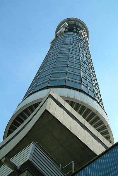 bt tower london, formerly the post office tower….  the main structure is 177 metres, with a further section of aerial rigging bringing the total height to 189 metres….  In 1962, while still under construction, the bt tower overtook st paul's cathedral to become the tallest building in london….a title it held until 1980, when it was overtaken by the natwest tower….  the tower was commissioned by the general post office (gpo)…..its primary purpose was to support the microwave aerials then used to carry telecommunications traffic from london to the rest of the country, as part of the british telecom microwave network….  the bt tower was given grade II listed building status in 2003….several of the defunct antennas located on the building could not be removed as they were protected by this listing….  however permission for the removal of the defunct antennas was approved on safety grounds as they were in a bad state of repair and its fixings were no longer secure…. as of december 2011 the last of the antennas has been removed, leaving the core of the tower visible….