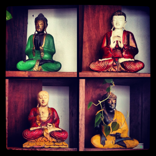 justinemalick:  Buddhas from Bali @ Yoga Soup