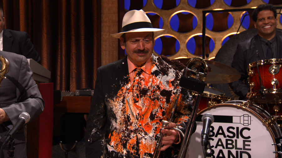 LaBamba really loved Conan's birthday cake. [slideshow]