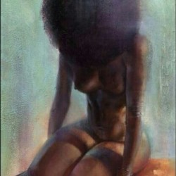 #beautiful #art #abstract #alterego #beauty #afro #afrocentric #africanamerican #woman #nude #flesh #naked #flesh #curves #skin #pure #painting #acrylic  (Taken with instagram)