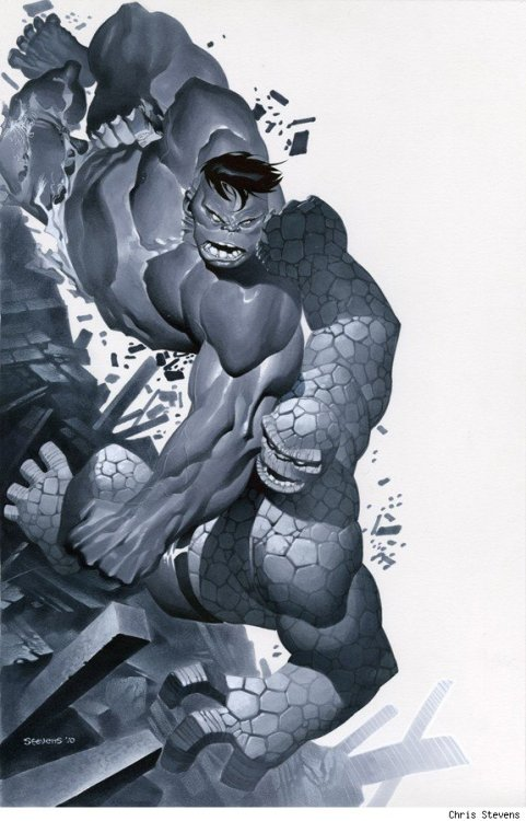 Hulk vs The Thing by Chris Stevens