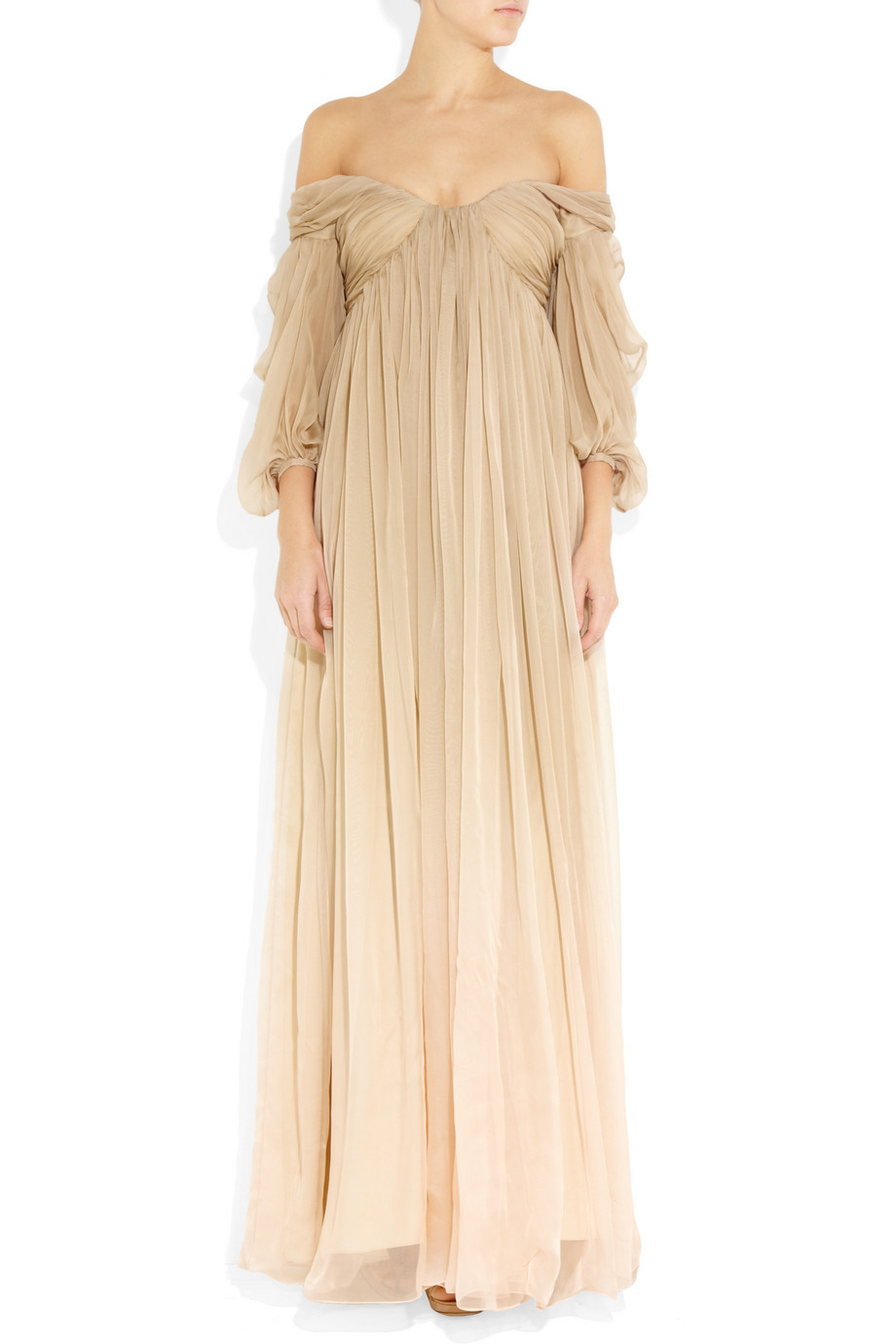 theprincessblog:  Alexander McQueen Degradé Silk-chiffon gown If anyone decides to marry me, I have my dress picked out.