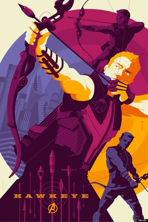 kid-cali:  Hawkeye poster for The Avengers by Tom Whalen