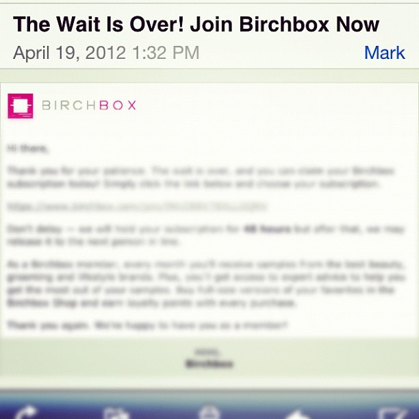adventuresincupckes:  So I finally received the email to join #birchbox … Just wondering if it's #worth it …. Anyone subscribe to it? (Taken with instagram)  I do! I love it. It's great if you actually want to try new products. Next months box is Gossip Girl themed. The forums on makeuptalk.com are good if you want to see what others have received in their boxes. (Just search for Birchbox)  Hope this helps you! : )